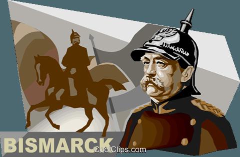 Otto von Bismarck Royalty Free Vector Clip Art illustration.