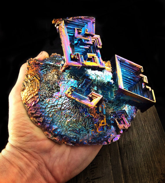 Large Bismuth Crystal Violets in Spring Iridescent by Element83.