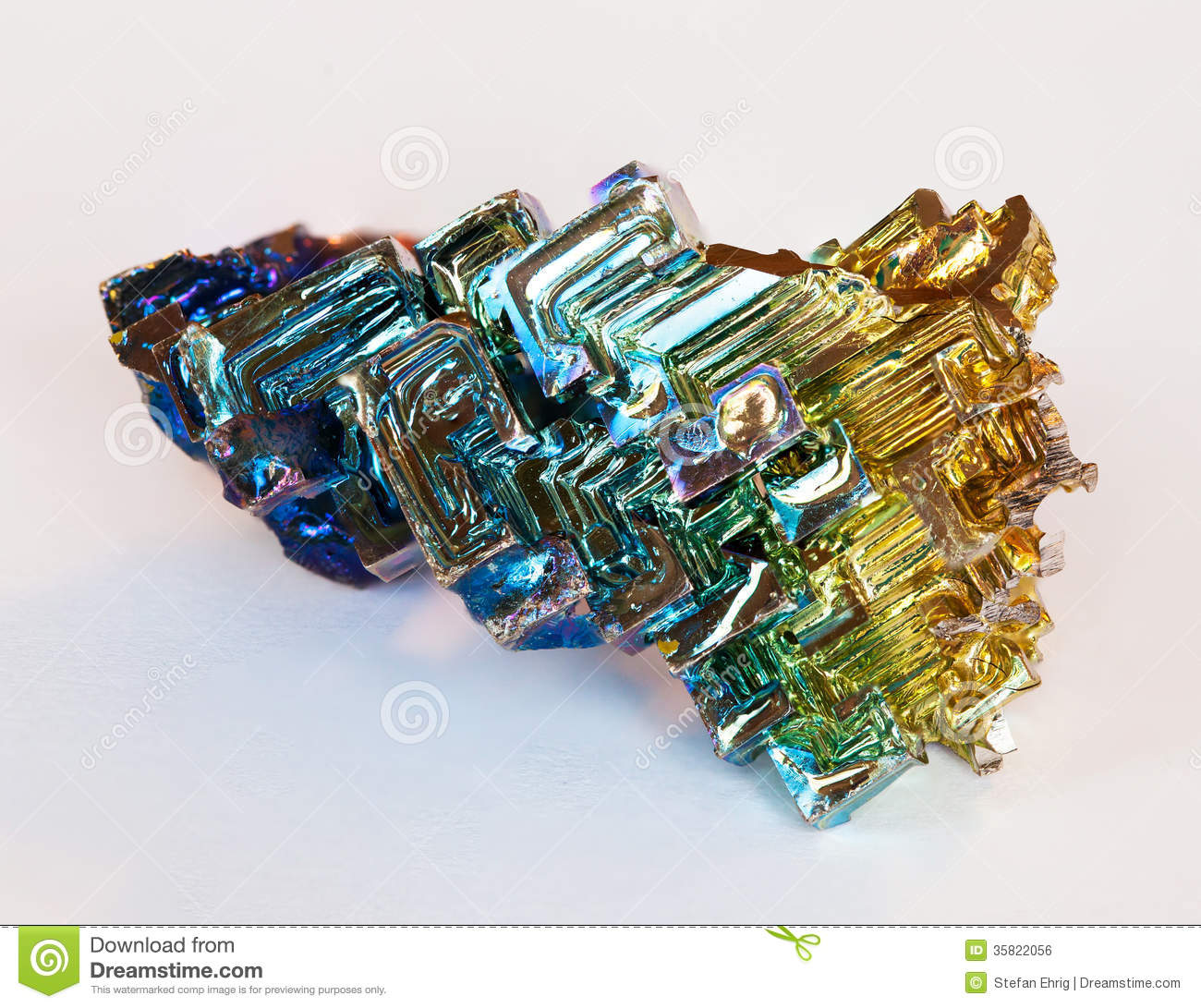 Bismuth Crystal Stock Photos.