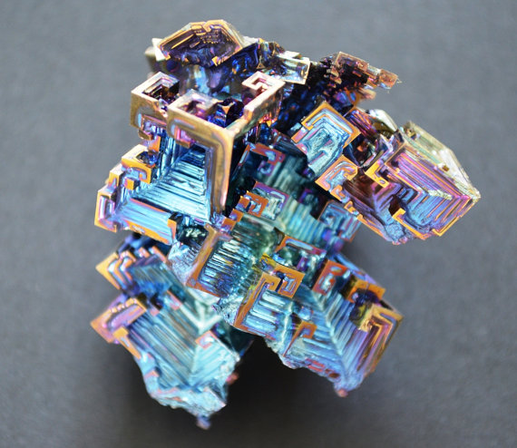 Bismuth Crystal Large Iridescent Rainbow Colors 38 by StoneTribe.