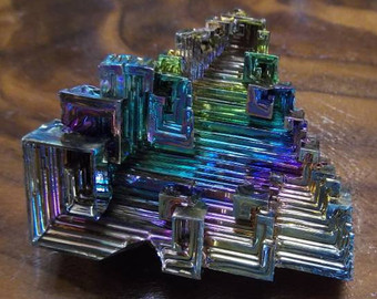 SUMMERSALEColorful Bismuth Crystal Formation by KnKMinerals.