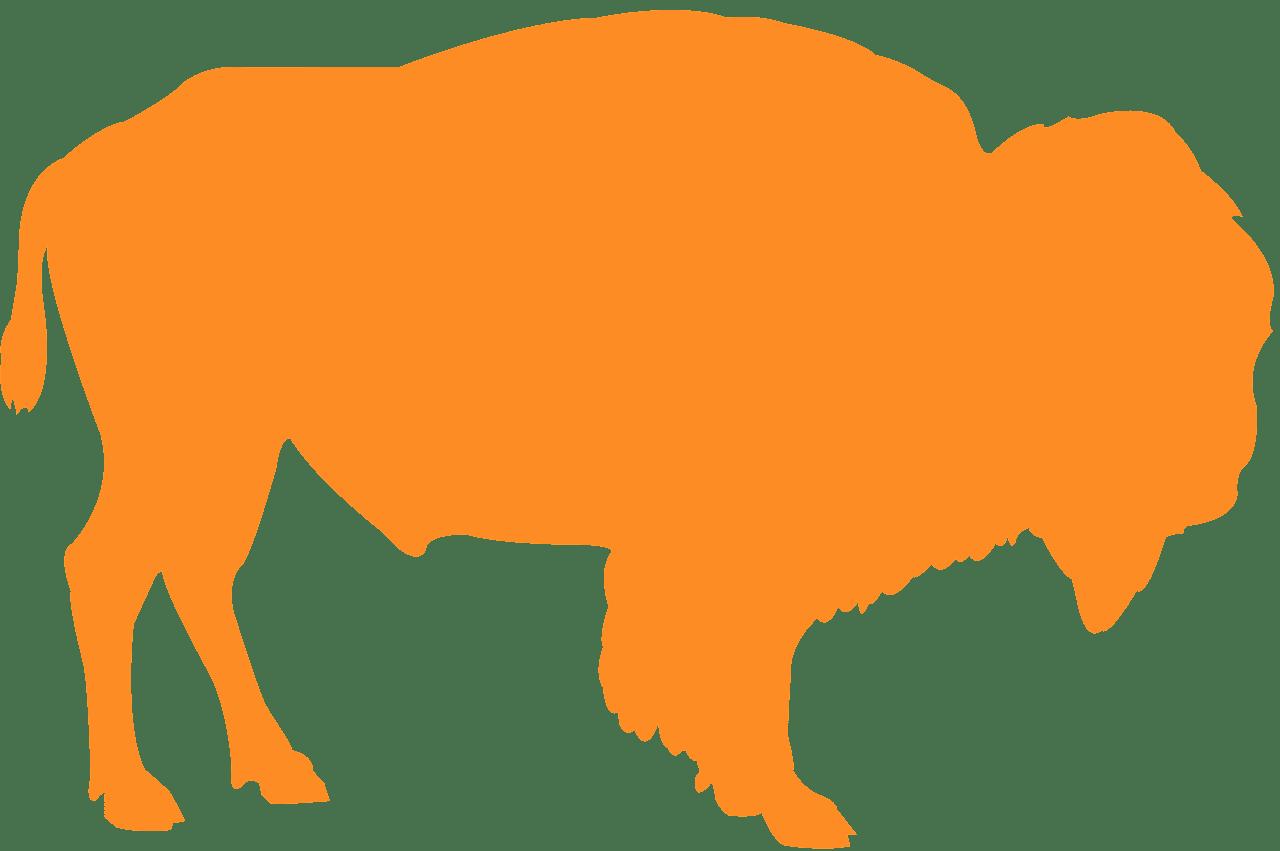 Bison silhouette.