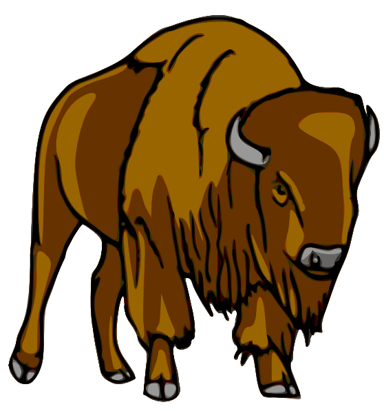 Bison Clip Art at Clker.com.