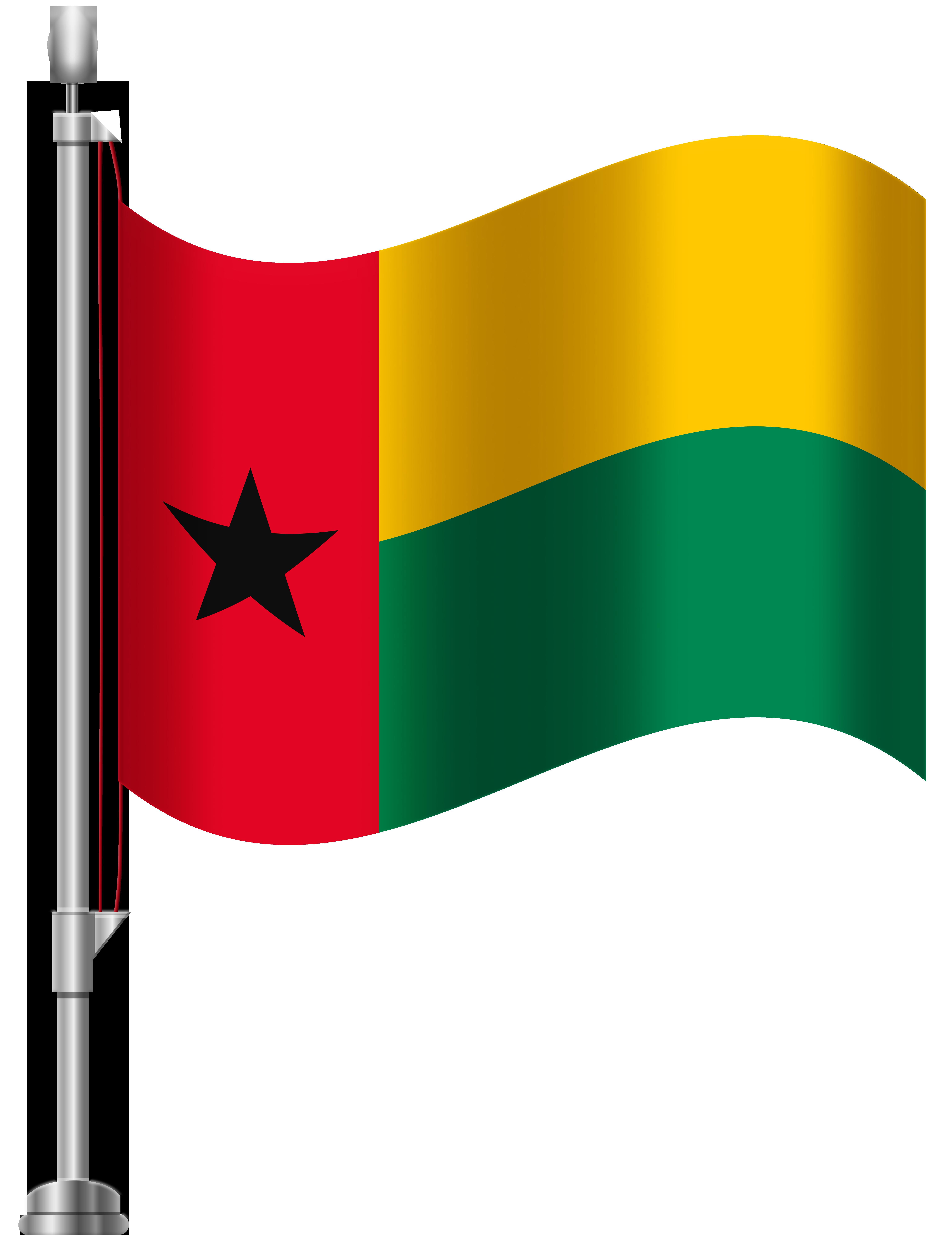 Guinea Bissau Flag PNG Clip Art.