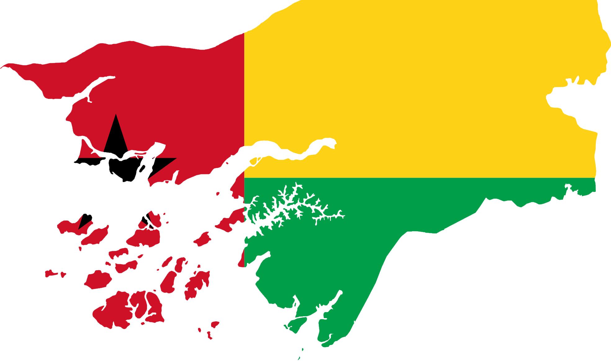 Guinea bissau flag clipart.