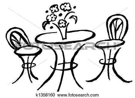 Stock Illustrations of Bistro Table k1358160.