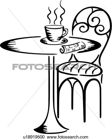 Clipart of , java, bristo, cafe, coffee, cup, drink, table, bistro.