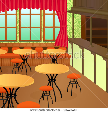 Restaurant Table Cartoon Stock Images, Royalty.