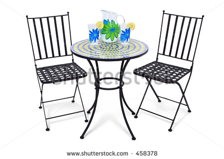 Bistro Table Set Clipart Clipground - Table and chairs clipart