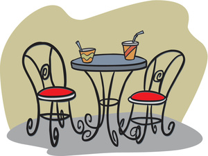 Bistro table clipart free.