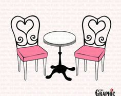 bistro cafe furniture set black clip art graphics image royalty.