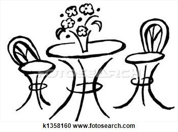 Bistro Table Clipart.