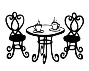 Bistro Table Clip Art.