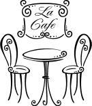 Paris cafe table clipart.
