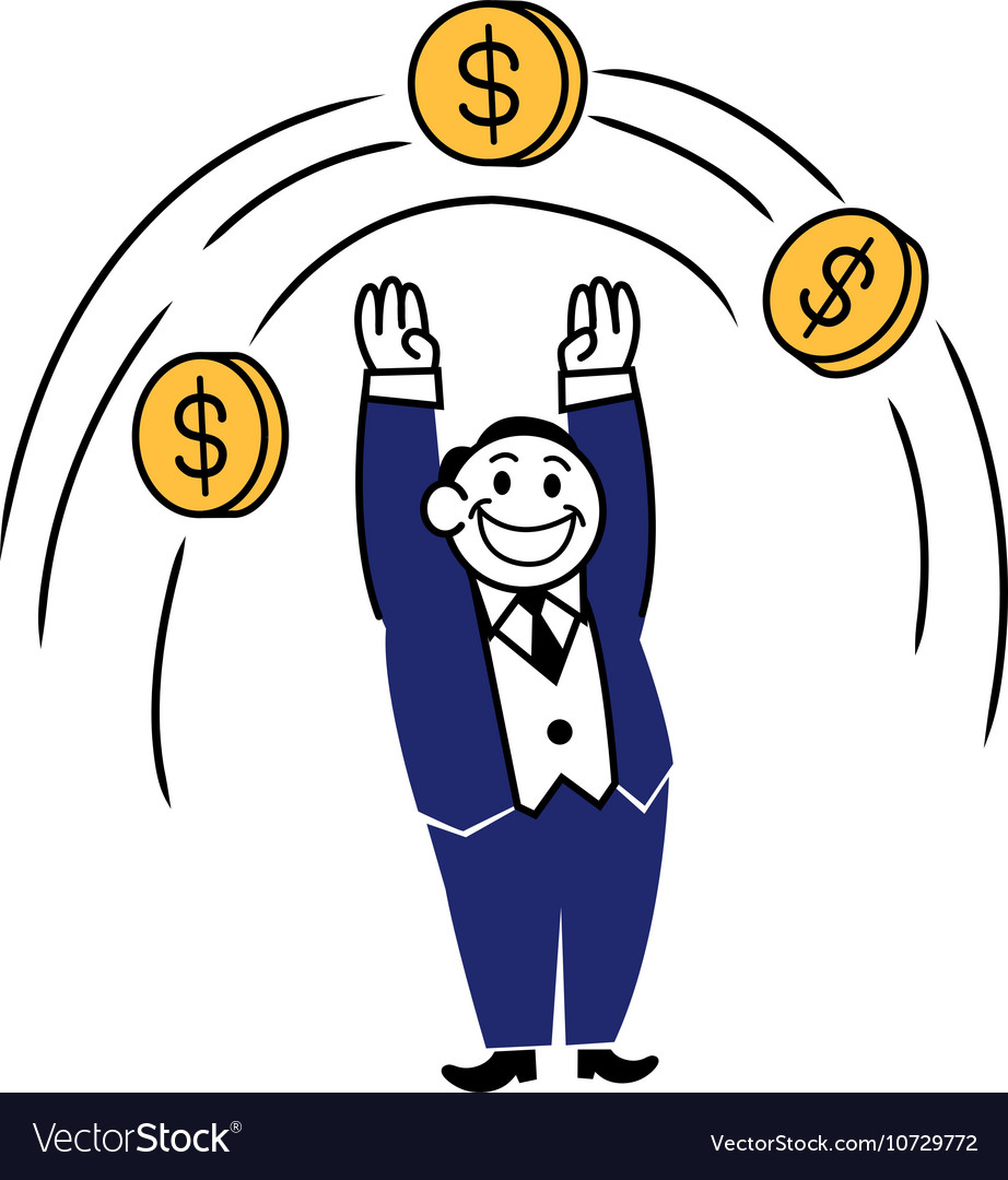 Business Clipart Jump Coin.