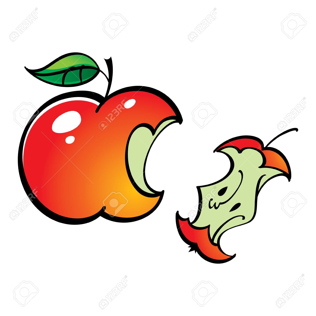 Apple Leftover Bit Fruit Food Royalty Free Cliparts, Vectors, And.