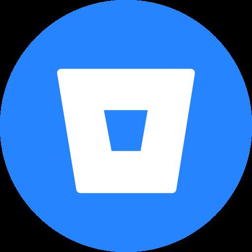 Bitbucket, circle, round icon icon.