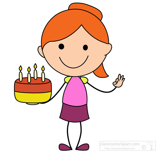 Bitchy woman with birthday cake clipart.
