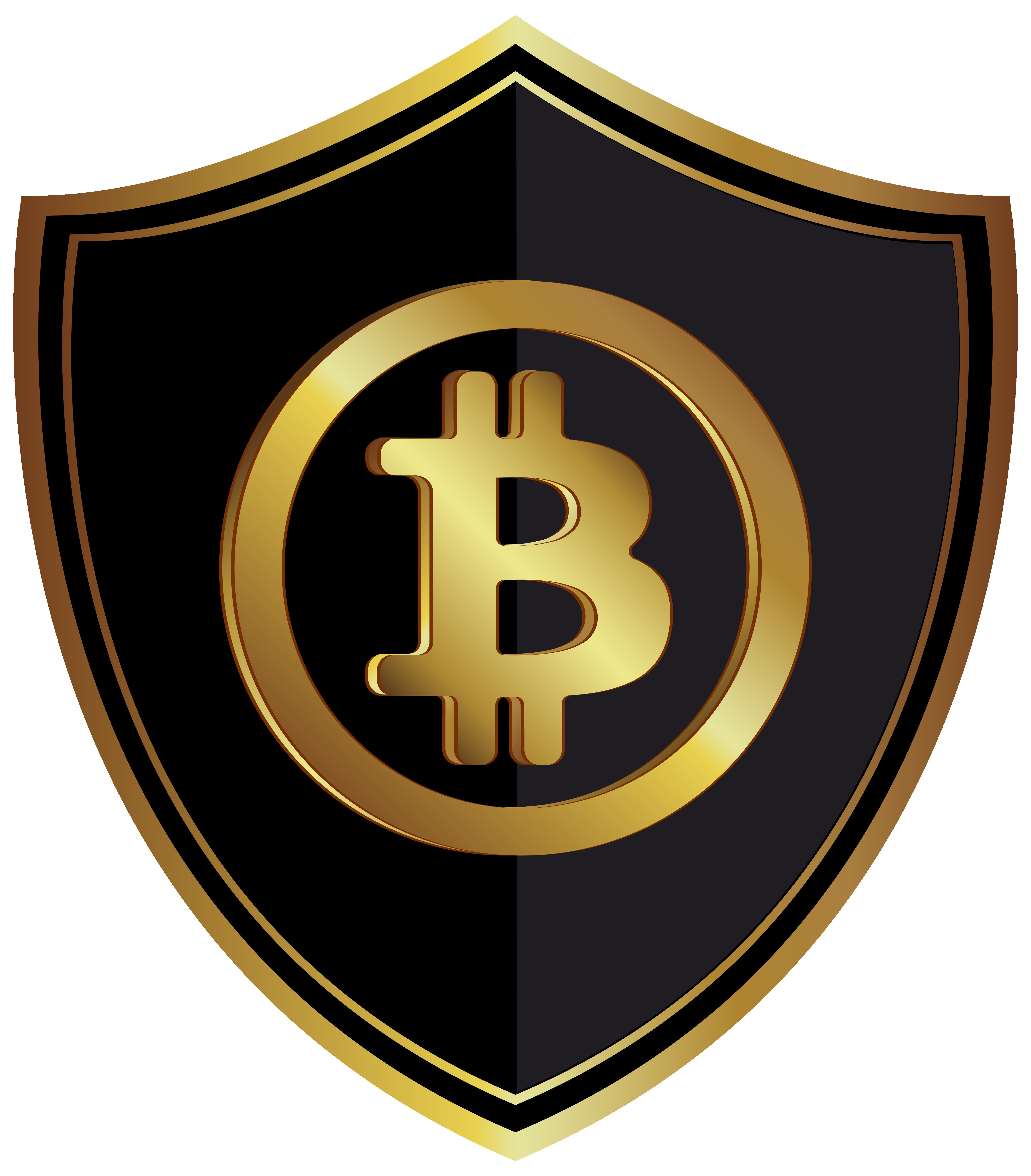Bitcoin Badge PNG Clip Art Image.