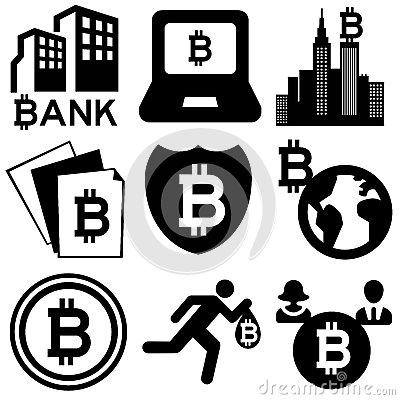 Bitcoin Stock Illustrations.
