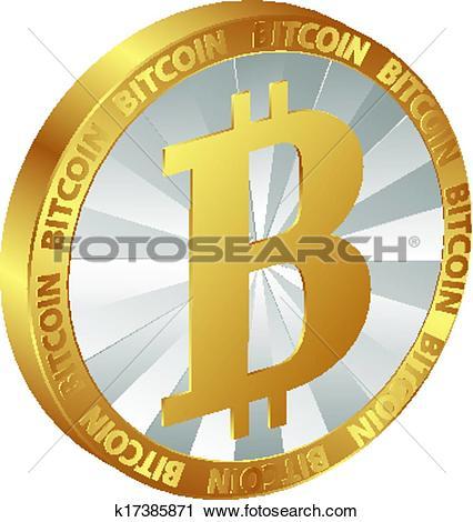 Clipart of bitcoin k17385871.