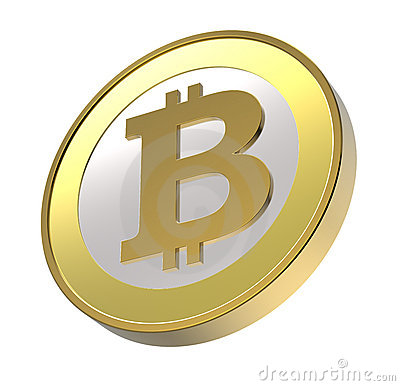 Bitcoin 3d Royalty Free Stock Images.