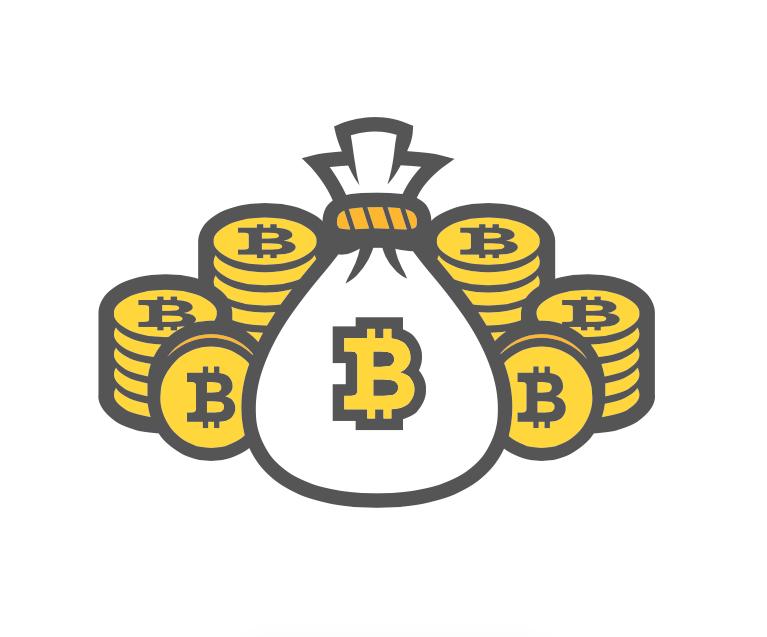 Bitcoin mining photo clipart.