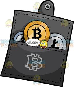 A Bitcoin Wallet Filled With Bitcoin And Litecoin.
