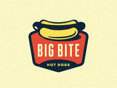 Big Bite Hot Dogs Logo.