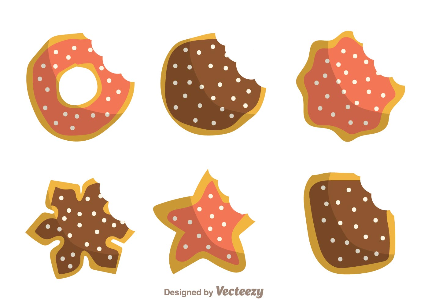 Cookie Bite Mark Free Vector Art.