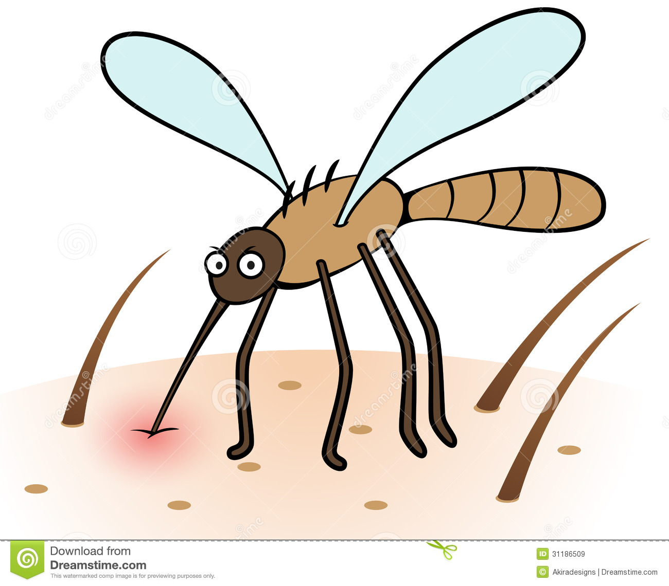 Insect bites clipart.