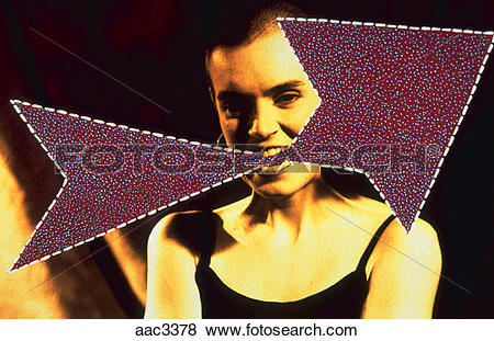 Pictures of Computer generated illustration of a woman appearing.