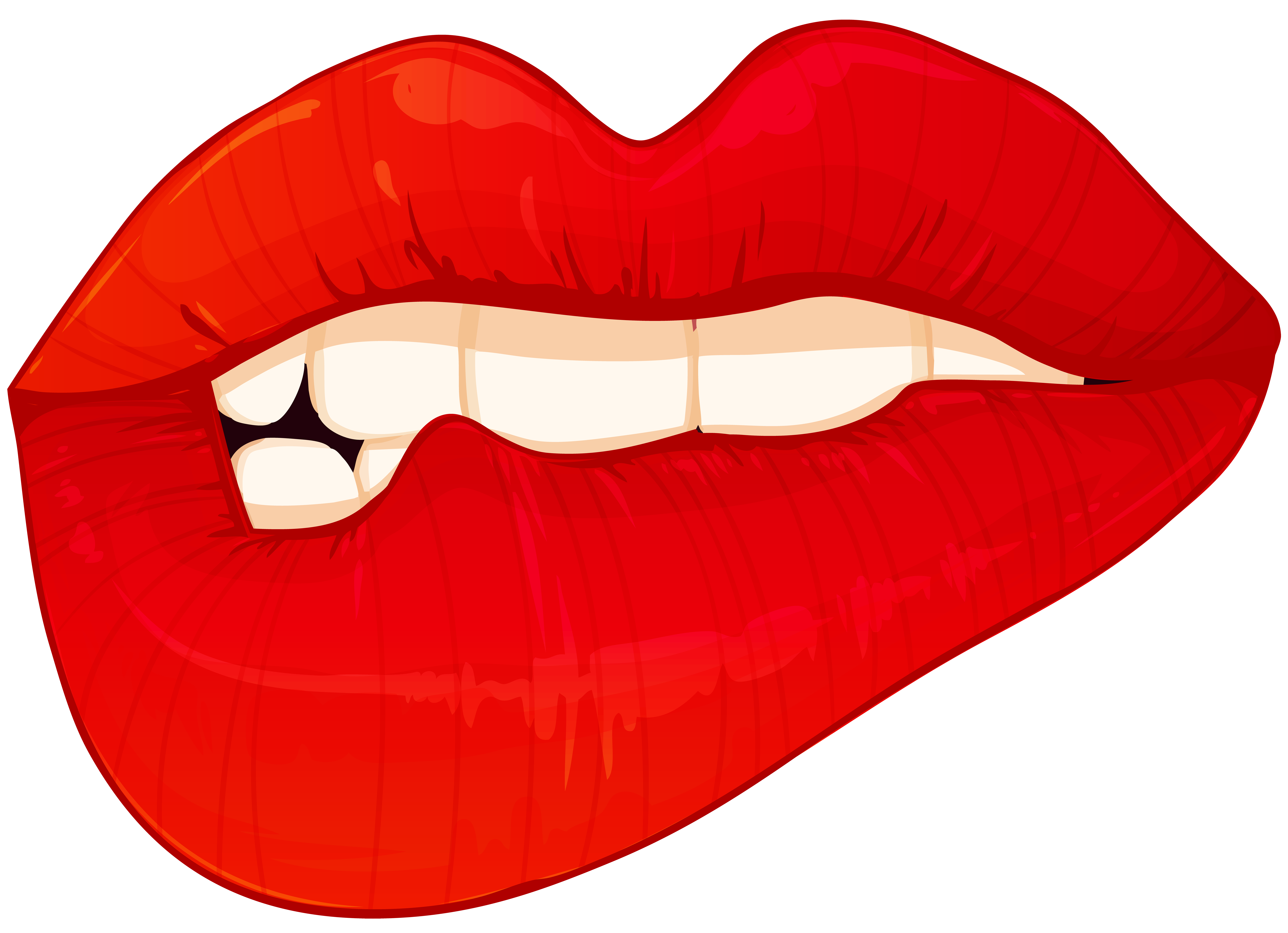 Biting Lips PNG Clip Art.