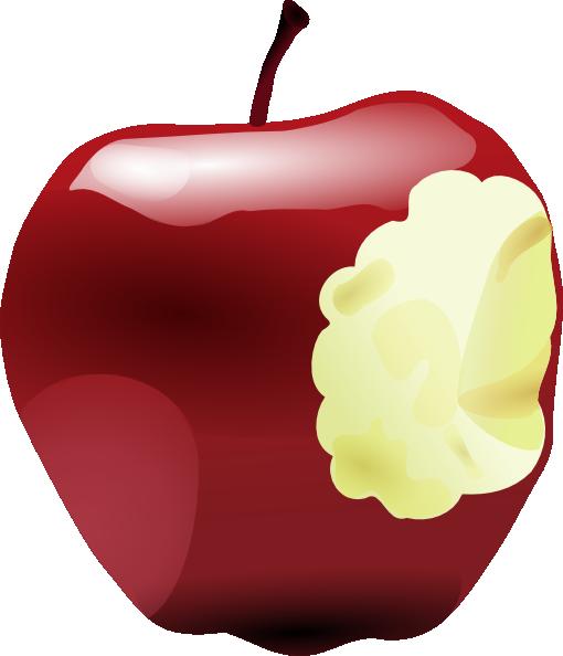 Apple Bitten clip art Free Vector / 4Vector.