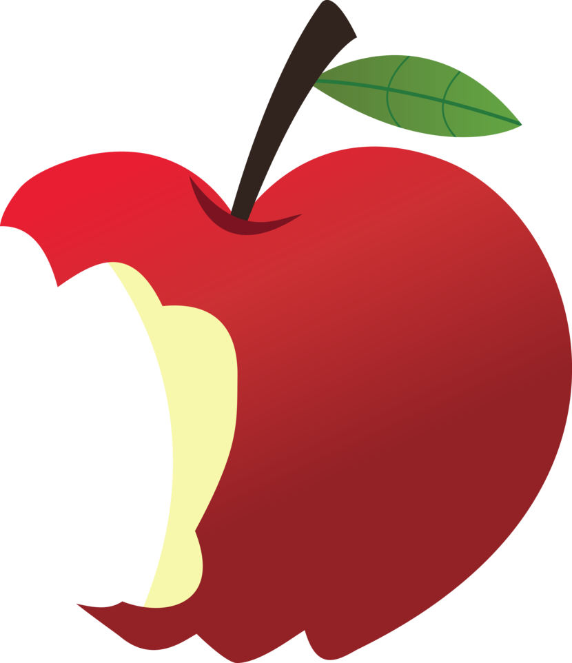 Apple bitten clipart.