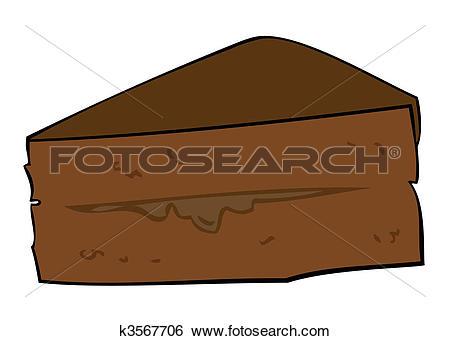 Clip Art of Dark Chocolate Cake slice. k3567706.