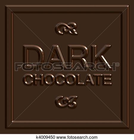 Dark chocolate clipart.