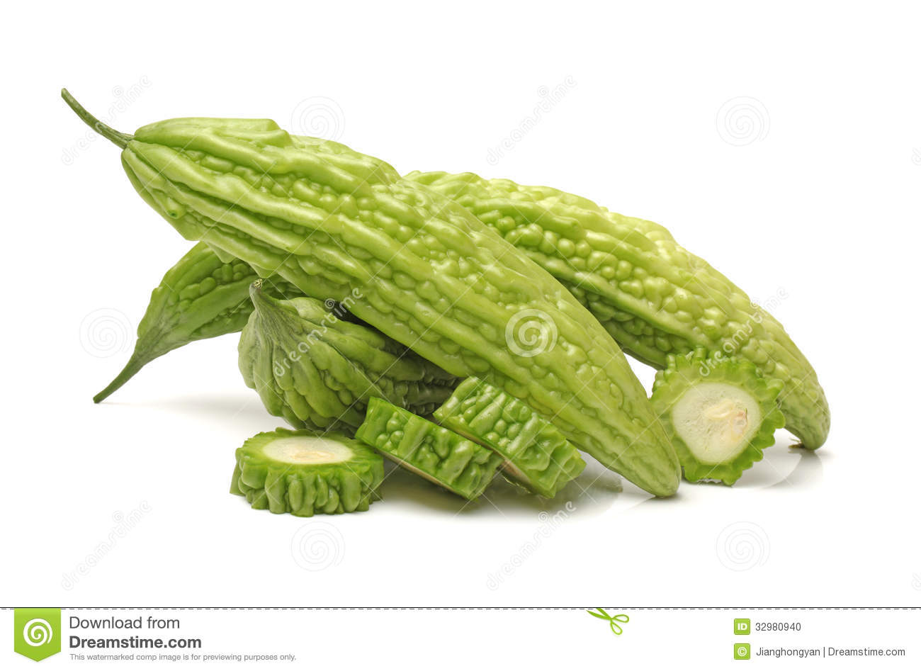 Bitter Melon , Bitter Gourd Stock Photo.