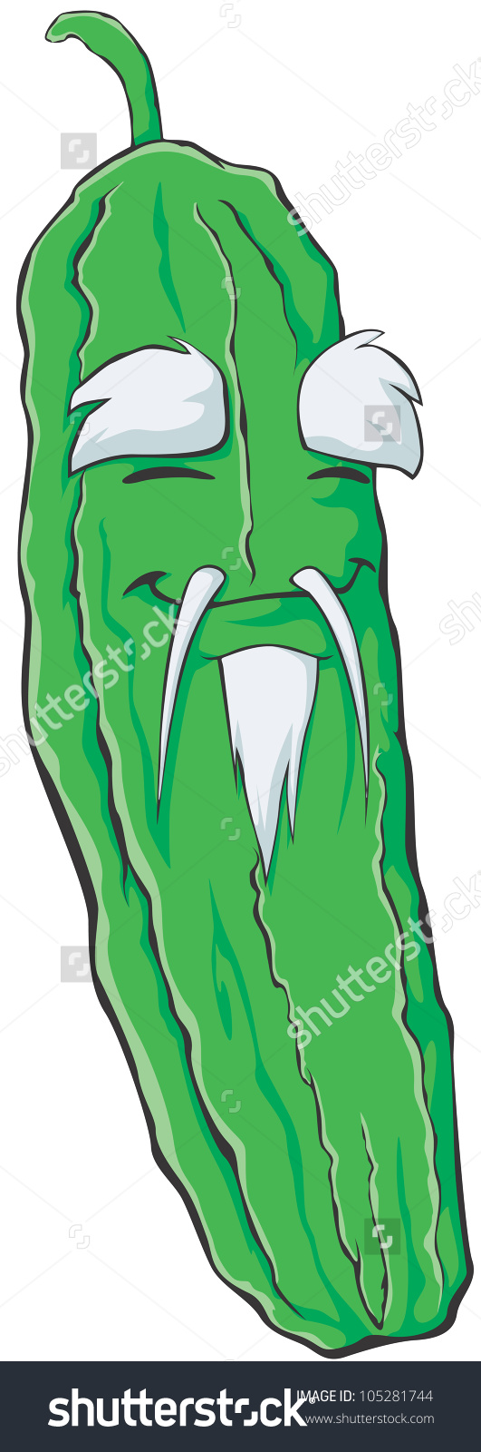 Bitter Gourd Cartoon Stock Vectors & Vector Clip Art.