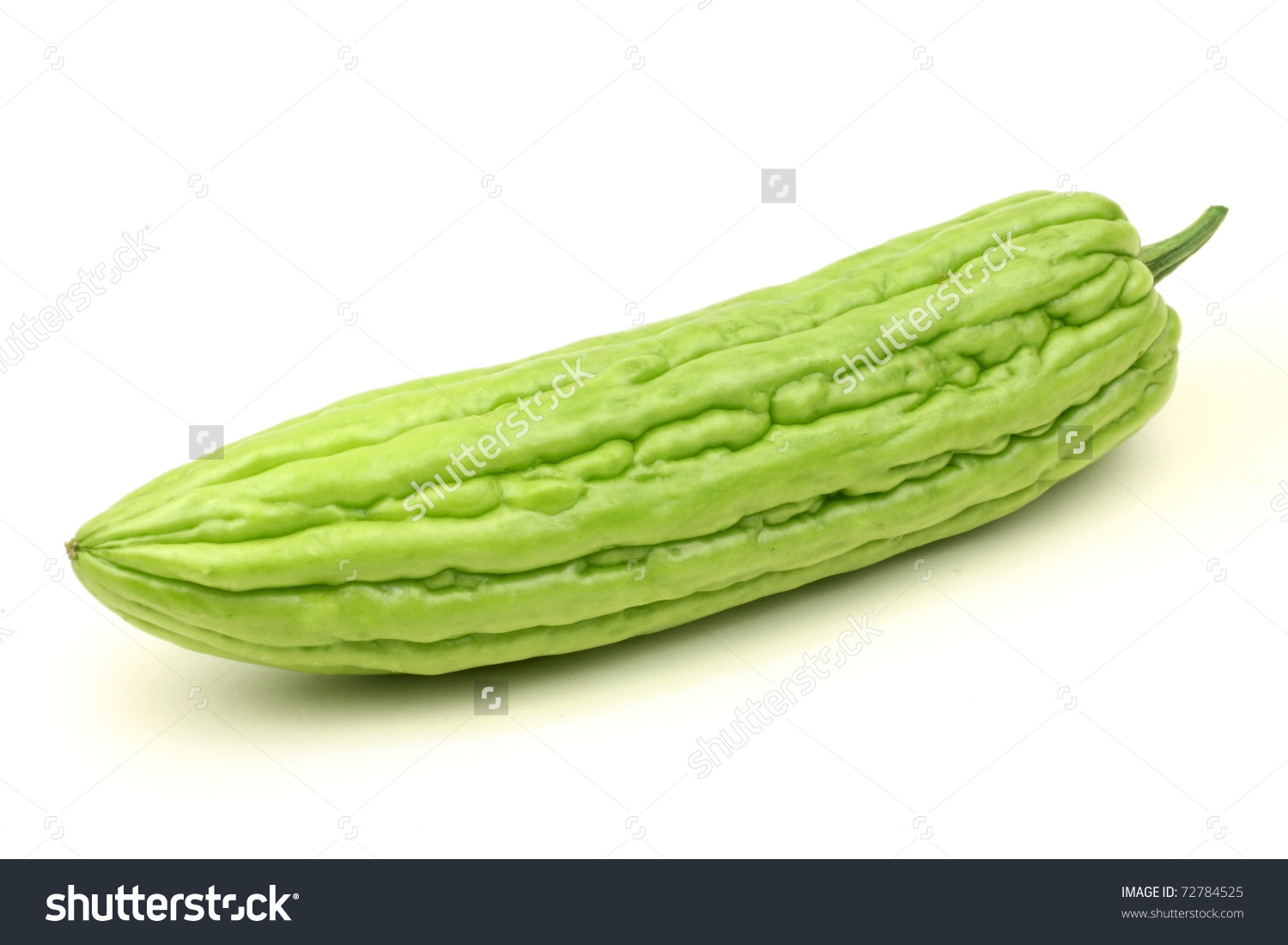 Bitter Melon On White Background Stock Photo 72784525.