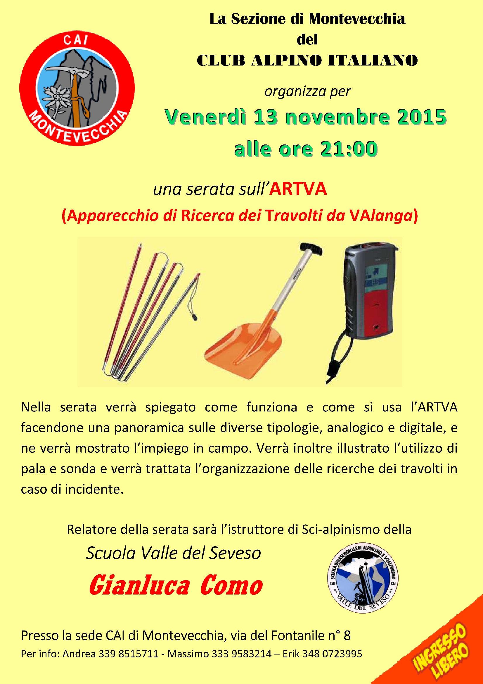 CAI Montevecchia Website.