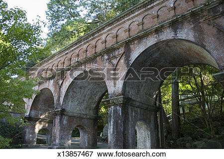 Picture of Japan, Kyoto City, Nanzenji Zen Temple, arches.