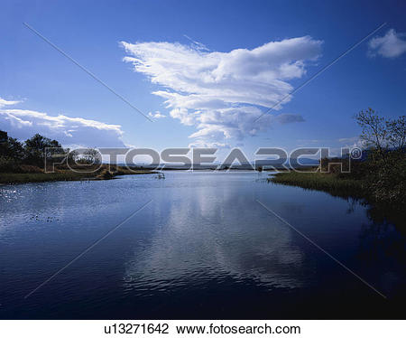 Stock Photo of Lake Biwa and Ado river, Shiga Prefecture, Honshu.