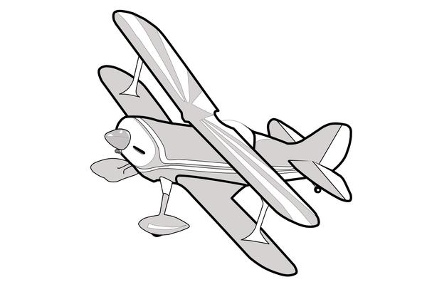 Biplane clipart silhouette.