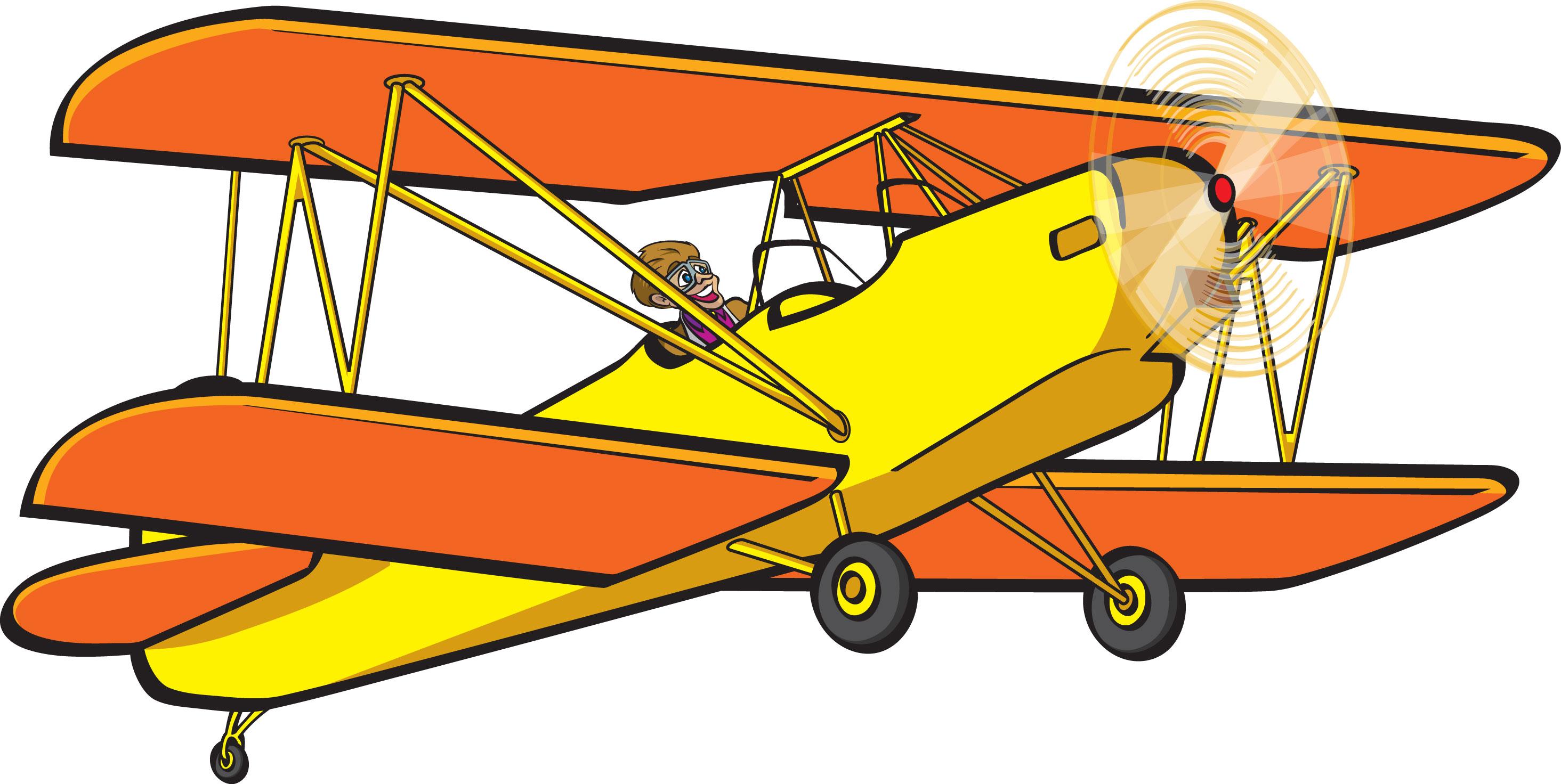 Biplane Clipart.