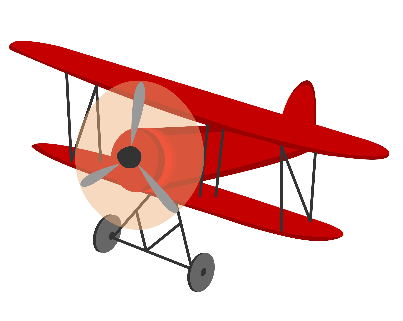 Biplane clip art.