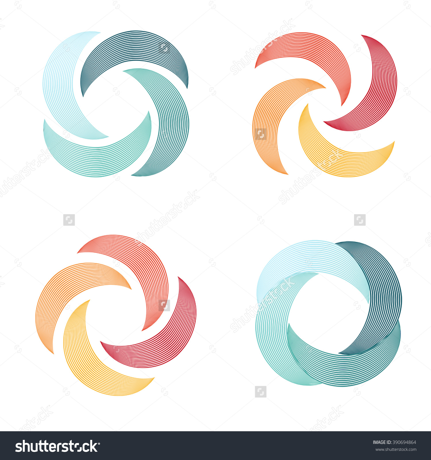 Bizarre Vector Logo Shape Boomerang Linear Stock Vector 390694864.
