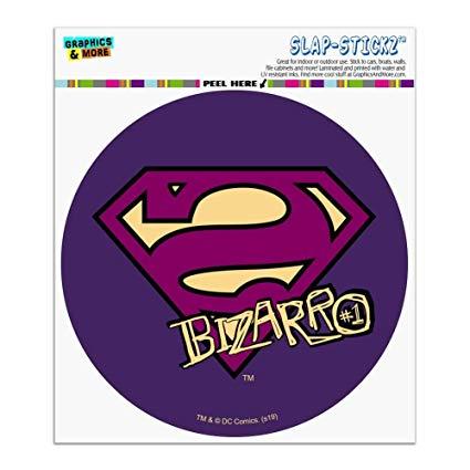 Amazon.com: Graphics and More Superman Bizarro Shield Logo.
