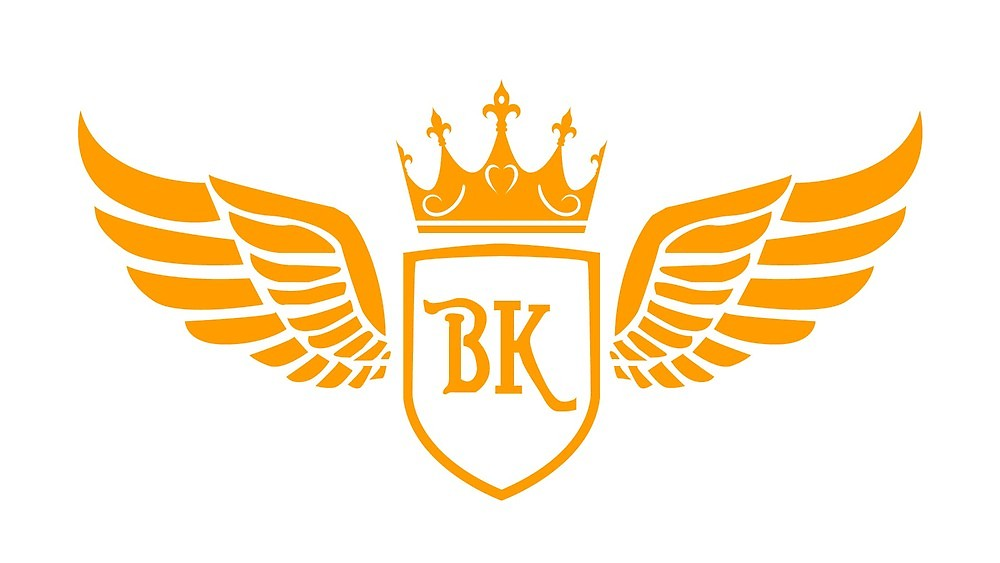 BK logo initials for branding and packaging\