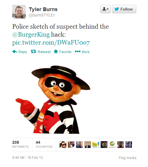 Burger King's Twitter Account Got Hacked.